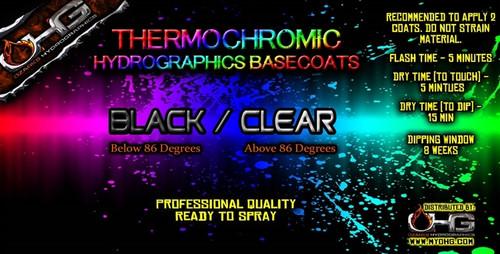 Thermochromic BLACK - CLEAR Basecoat  (QUART)