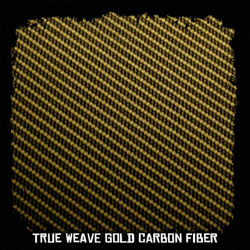 True Weave Gold Carbon Fiber
