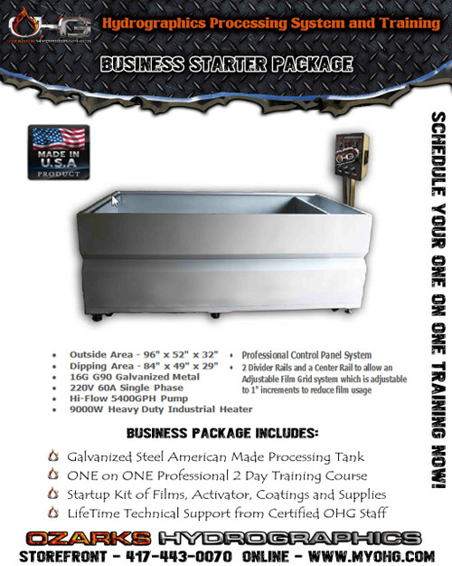 Business Starter Package -  8' Hydrographics Tank & Training
