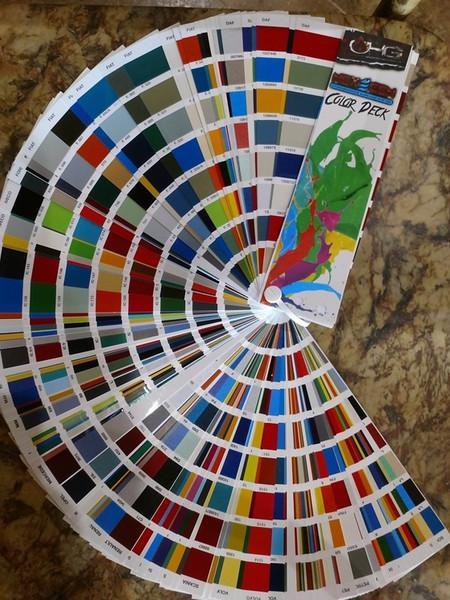 NexGEN Color Fan Deck - Hydrographics Basecoats