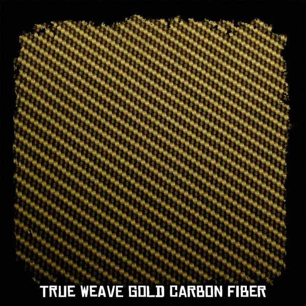 True Weave Gold Carbon Fiber