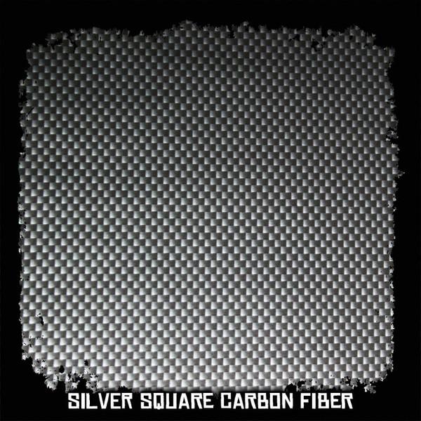 Silver Square Carbon Fiber