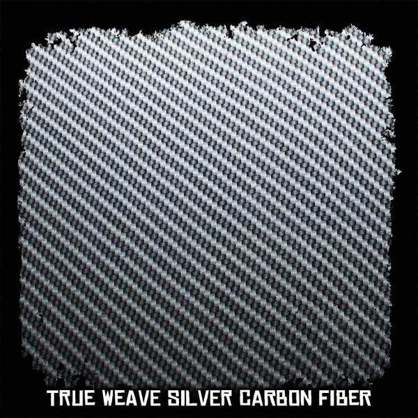 True Weave Silver Carbon Fiber