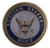 Navy Brass Medallion