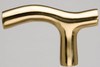Smooth T Brass Cane Handle