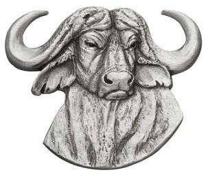 Cape Buffalo Pewter Medallion