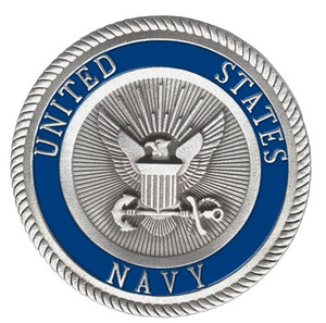 US Navy Pewter Medallion
