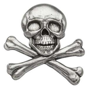 Skull and Crossbones Pewter Medallion