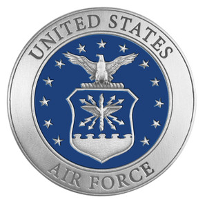 Air Force Medallion with Color
