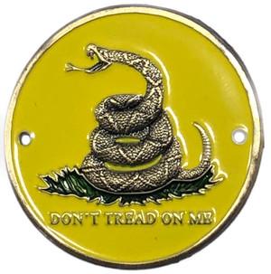Don't Tread on Me Brass Hiking Stick Medallion