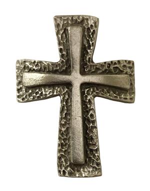 Cross Pewter Medallion