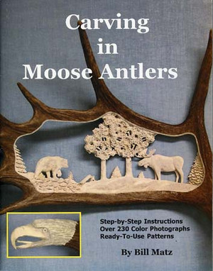 CARVING IN MOOSE ANTLERS