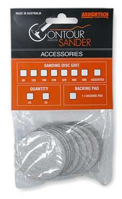 80 Grit Contour Sander Discs (25pk)