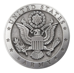 ARMY PEWTER MEDALLION