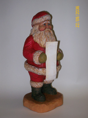 Santa with List Basswood Roughout