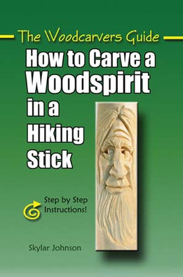 CARVE A WOODSPIRIT IN HIKING STICK