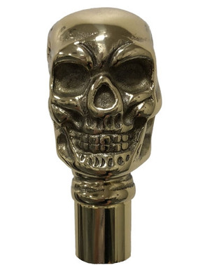 Skull Brass Cane Handle