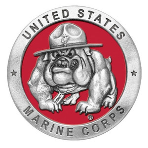 USMC Bulldog Medallion in Color