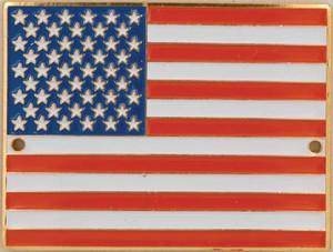 US Flag Brass Medallion