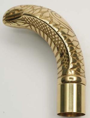 Cobra Brass Cane Handle