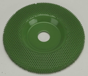 "4"" Saburr Tooth Wheel Coarse Flat Profile"