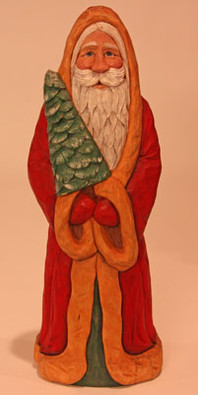 Santa with a Tree Roughout