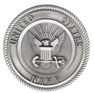 NAVY PEWTER MEDALLION