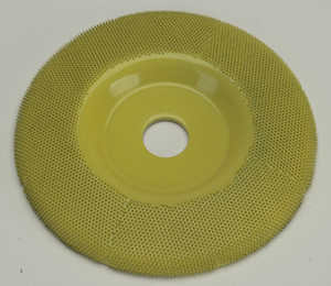 "4"" Saburr Tooth Wheel Fine Flat Profile"
