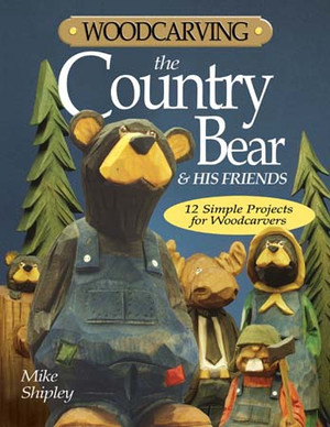 WOOD CARVING THE COUNTRY BEAR AND HIS FRIENDS