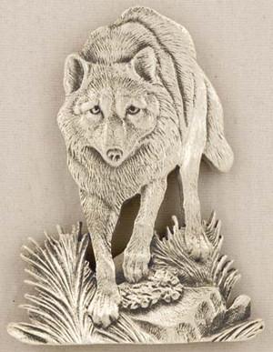 WOLF PEWTER MEDALLION