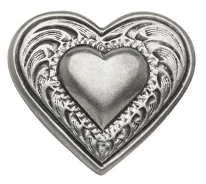Heart Pewter Medallion