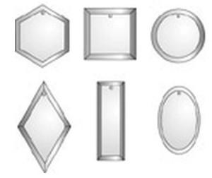 5 mm RECTANGLE GLASS ORNAMENT