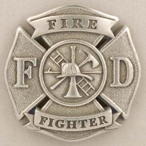 FIREFIGHTER PEWTER MEDALLION