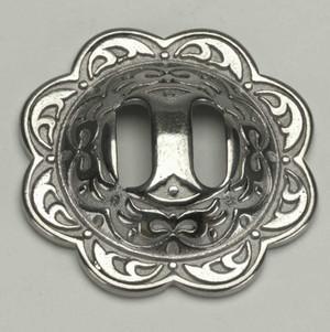 Silver Floral Concho