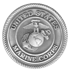 MARINES PEWTER MEDALLION