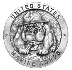USMC Bulldog Pewter Medallion