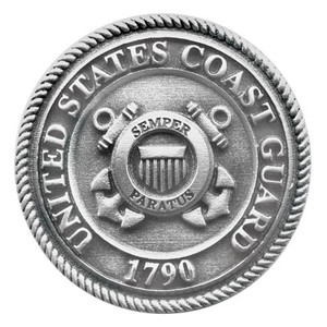 COAST GUARD PEWTER MEDALLION