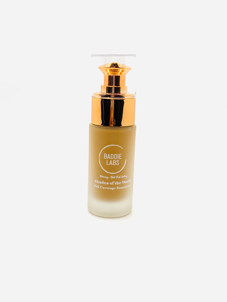 Baddie Labs Cosmetics Shades of the World Full Coverage Hydrating Foundation Unite 12
