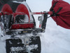 ice fishing auger mount carrier for snowmobile