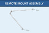 Free standing tripod mount lake groomer weed roller