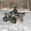 Ice auger mount for ATV polaris honda auger rack carrier