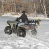 Ice auger mount for ATV polaris honda auger rack carrier