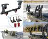 Ice auger rack carrier for fourwheeler atv lock & ride