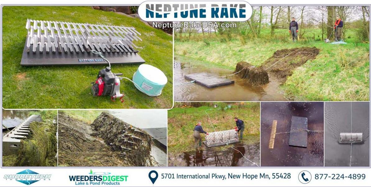 Affordable Harvester & Dredger for Ponds & Lakes | Neptune Rake | New Product Introduction 2020