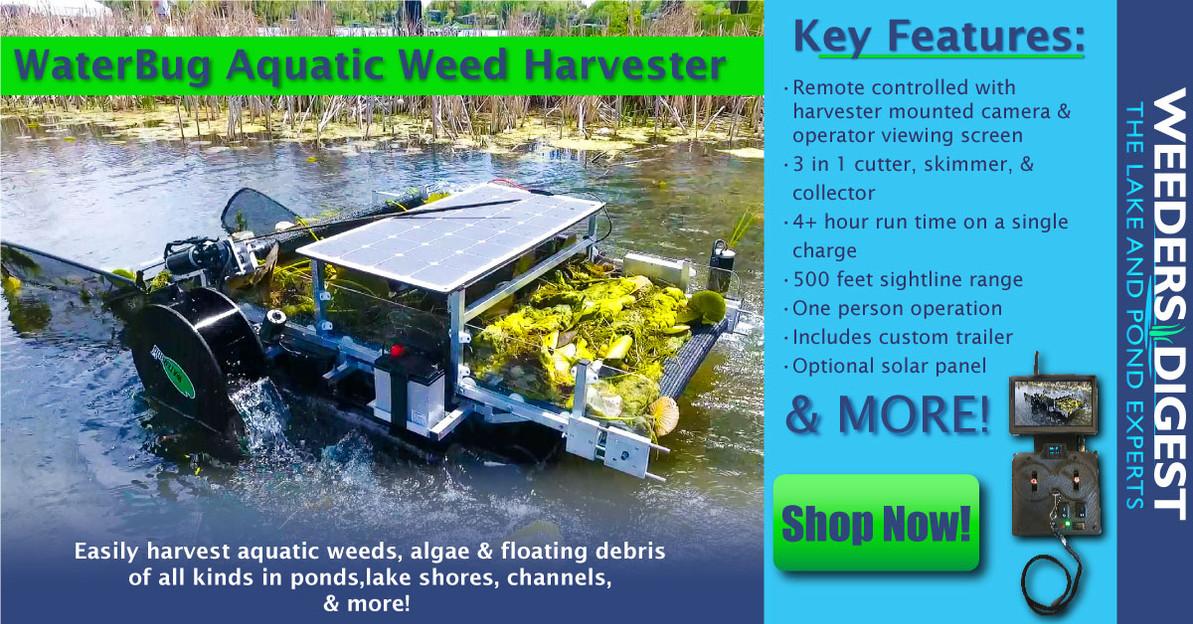 Remote Controlled Aquatic Weed Harvester