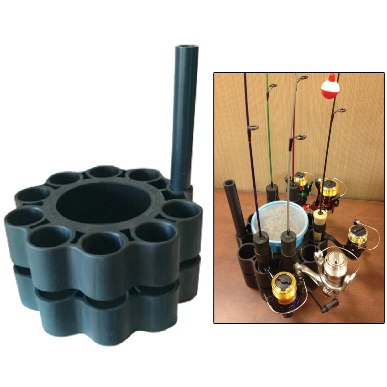 Ice fishing Rod Pole Retainer Holder carrier