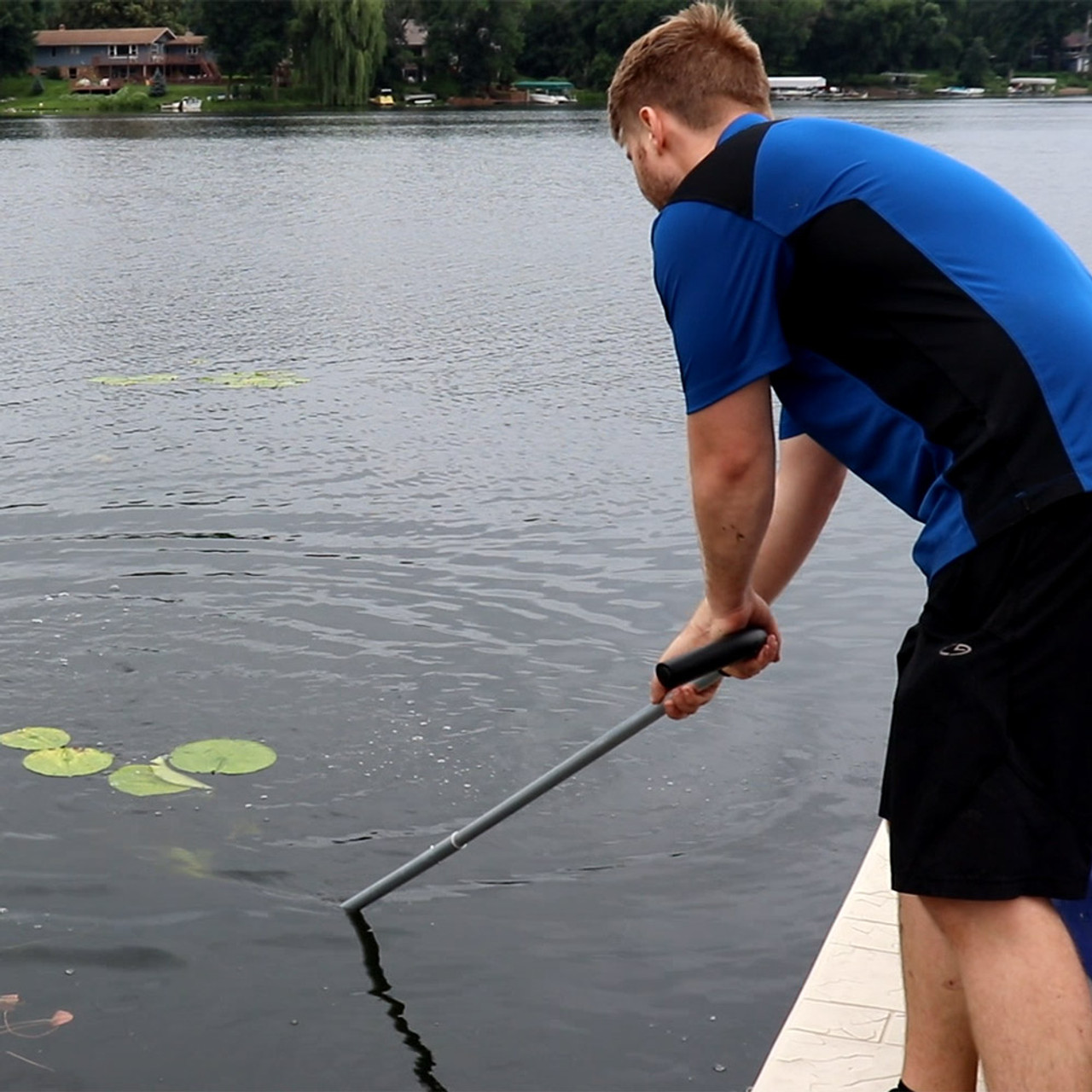 muck silt removal Beach Weed Cutter Ripper Lake Aquatic Weed Pulling Tool Rope