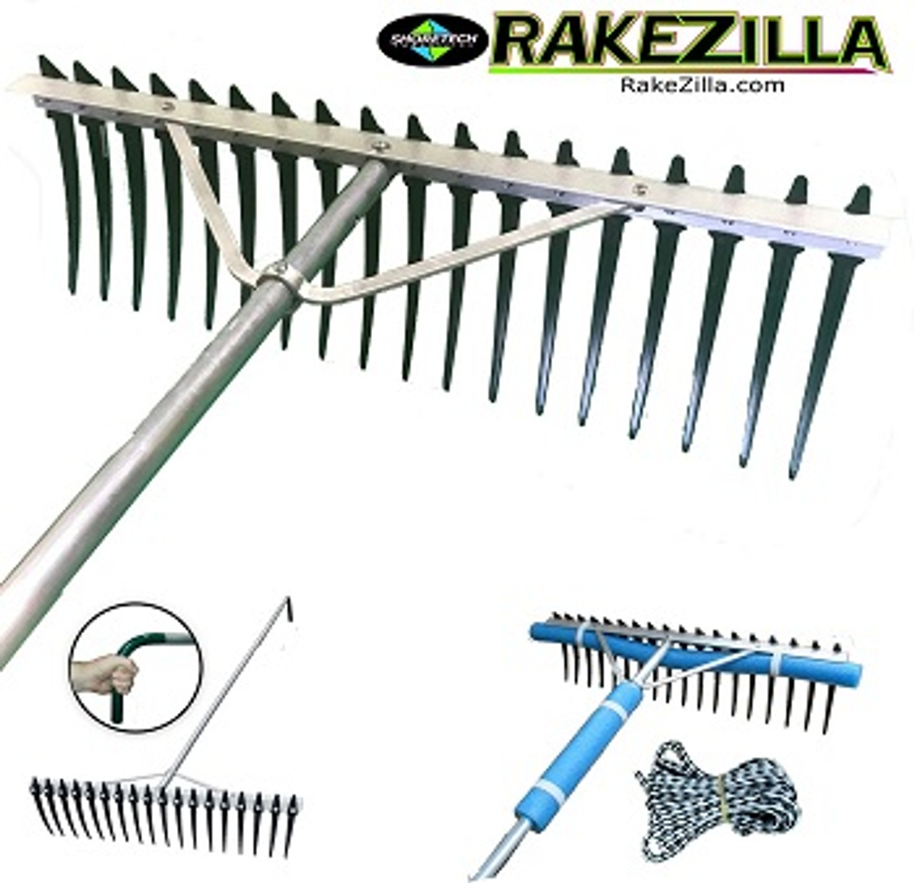 Lake Weed Cleanup Kit | Weed Cutter | Rake / Fork