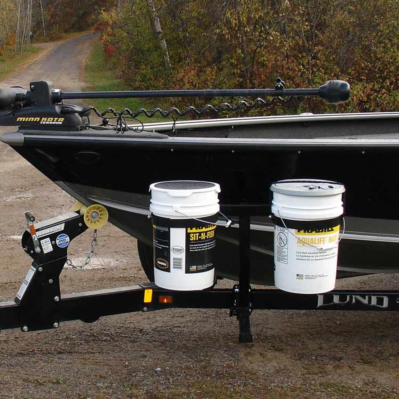 Boat Trailer Bucket Carrier Side Mount