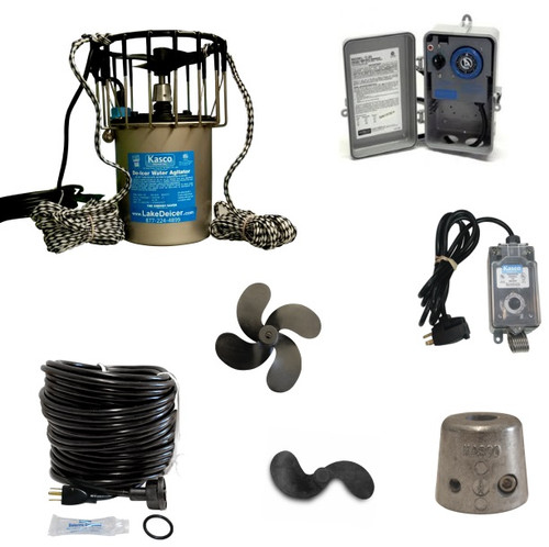 Kasco De-icer bubbler dock pier prop timer thermostat control cord accessories replacement parts